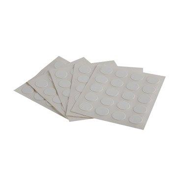 Lot de 100 cache-vis adhésifs blanc