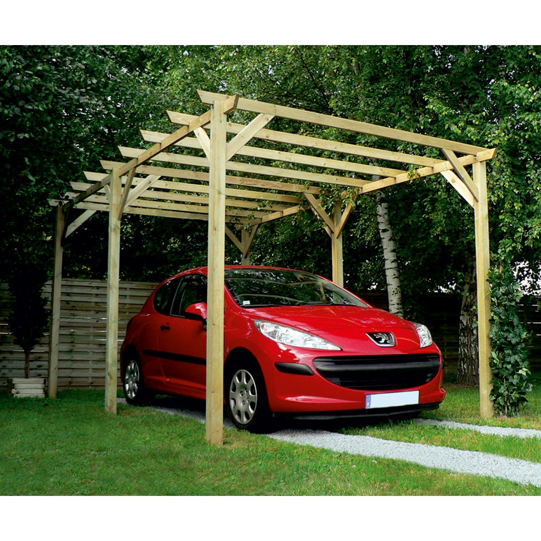 Carport bois Maranello 1 voiture, 15 m² BURGER