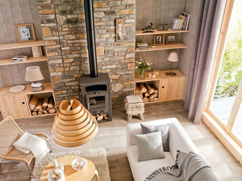 po le bois po le granul s et chemin e leroy merlin. Black Bedroom Furniture Sets. Home Design Ideas