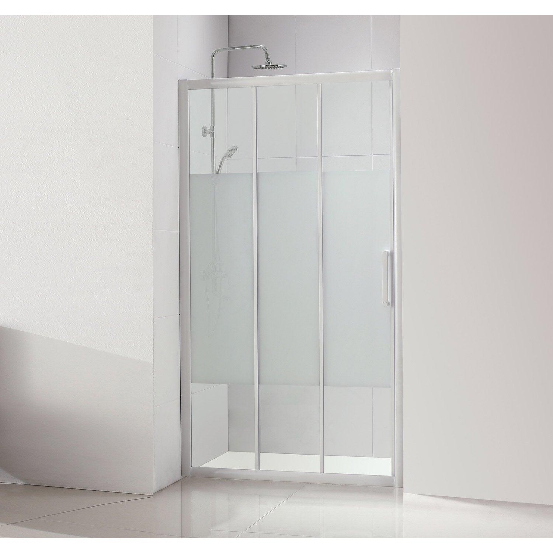 Porte de douche coulissante 110 cm s rigraphi quad - Poser porte de douche ...