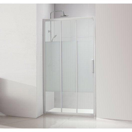 Porte de douche au meilleur prix leroy merlin for Porte 53 cm