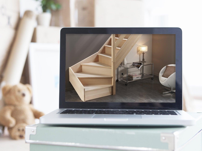 configurer mon escalier long longline droit et quart. Black Bedroom Furniture Sets. Home Design Ideas