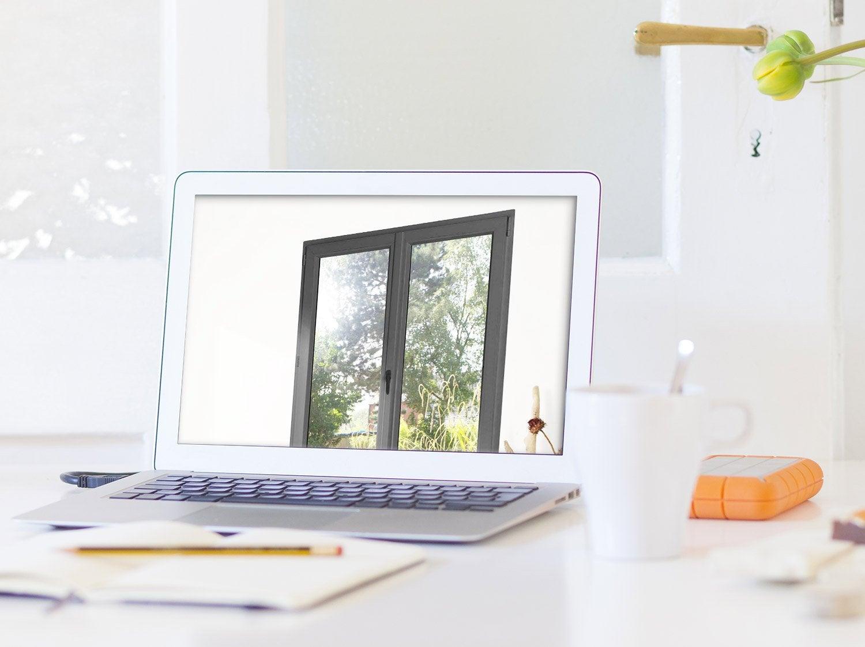 fen tre aluminium 1 vantail sans ouverture x cm leroy merlin. Black Bedroom Furniture Sets. Home Design Ideas