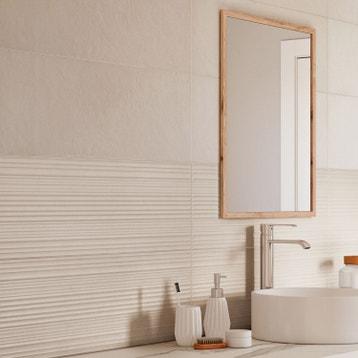 faence mur blanc atelier l25 x l76 cm