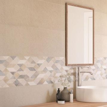 faence mur beige decor origami atelier l25 x l76 cm