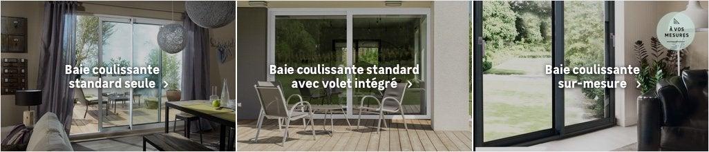 baie vitr e et baie coulissante baie vitr e sur mesure au meilleur prix leroy merlin. Black Bedroom Furniture Sets. Home Design Ideas