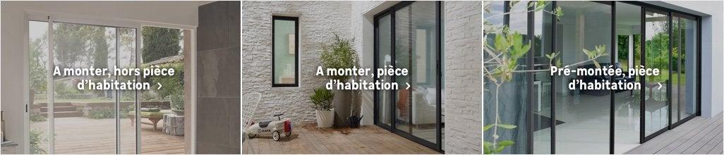 baie vitr e aluminium et baie coulissante alu au meilleur prix leroy merlin. Black Bedroom Furniture Sets. Home Design Ideas