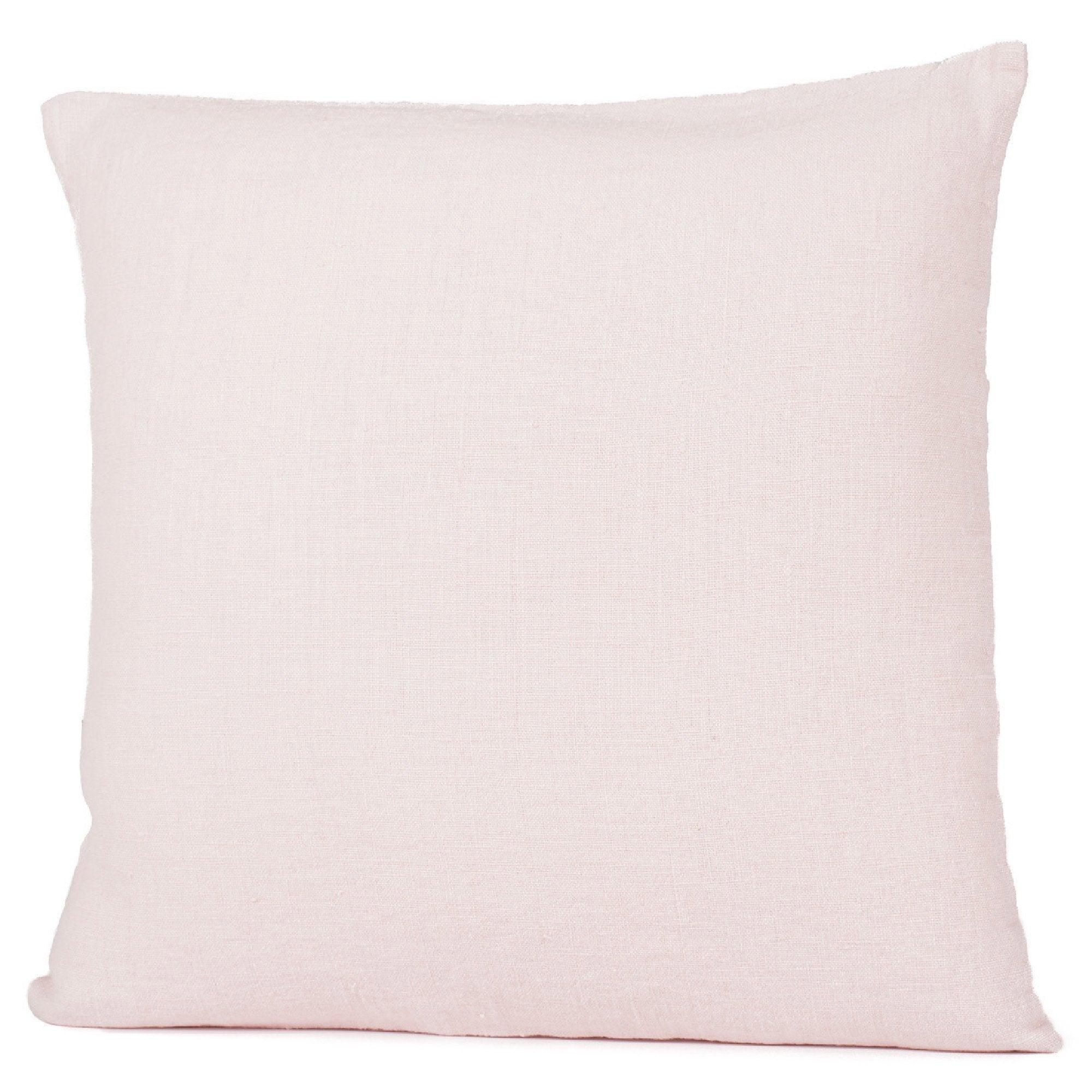Coussin Solenzara, rose poudré l.45 x H.45 cm