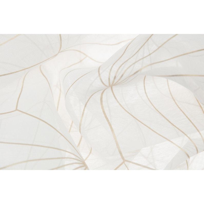 Voilage Transparent Artdéco Blanc Doré L140 X H260 Cm