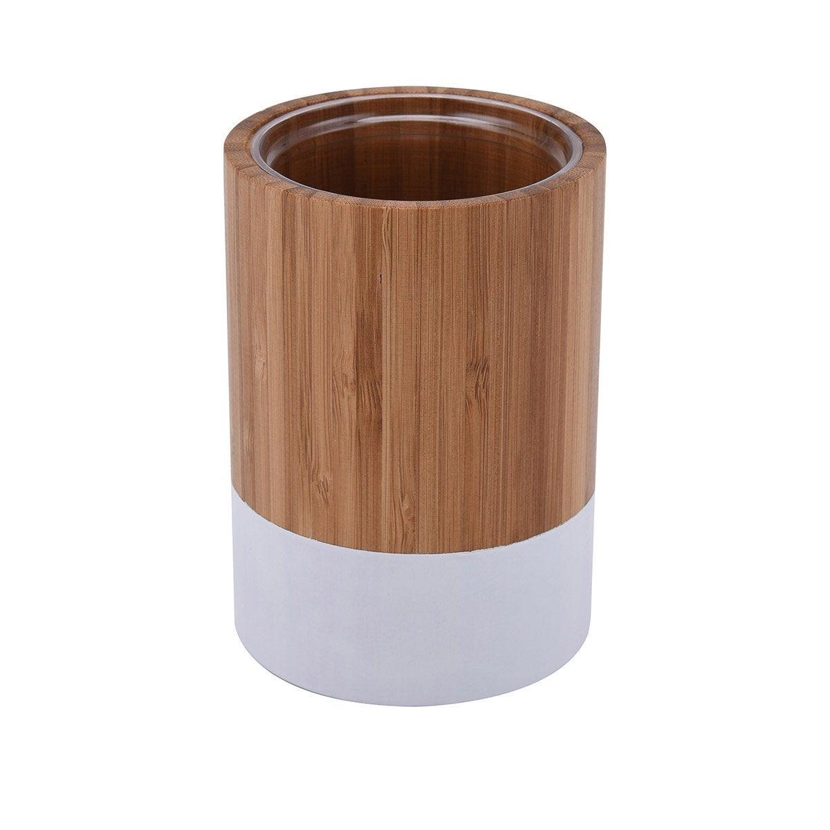 Gobelet bambou James, blanc-blanc n°0