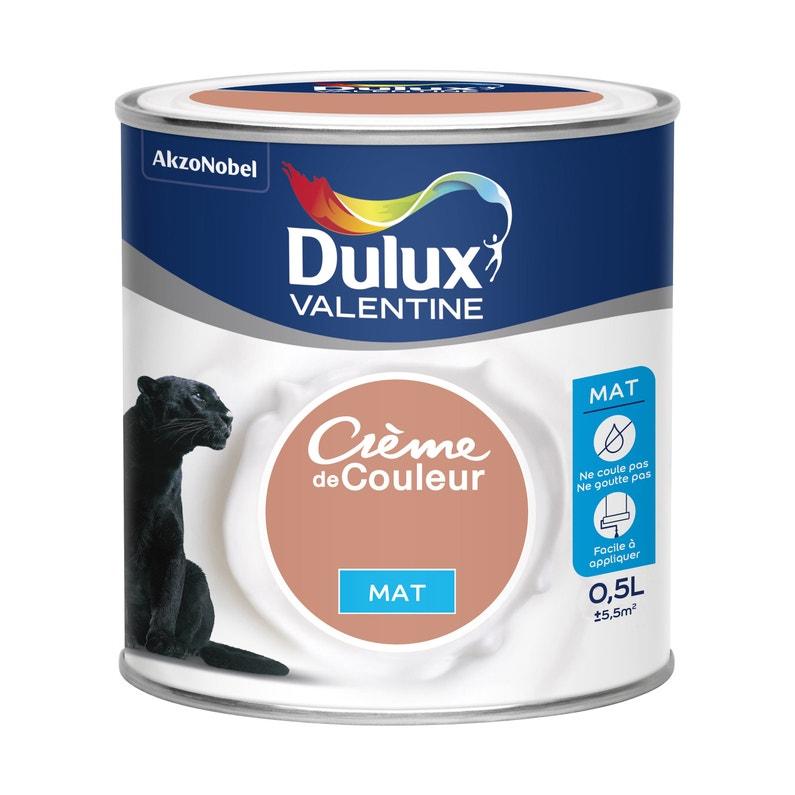 Peinture Cuivre Rose Mat Dulux Valentine Crème De Couleur 0 5 L
