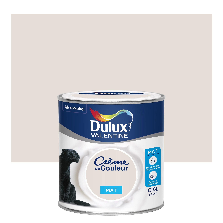 Peinture lin blanc mat DULUX VALENTINE Crème de couleur 0.5 l