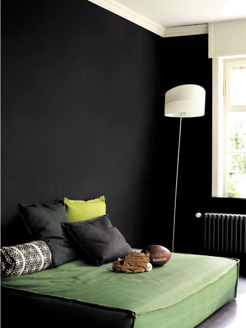 peinture mur boiserie creme de couleur dulux valentine noir mat 0 5 l