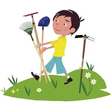 outil de jardinage pour enfants pelle rateau balai au. Black Bedroom Furniture Sets. Home Design Ideas