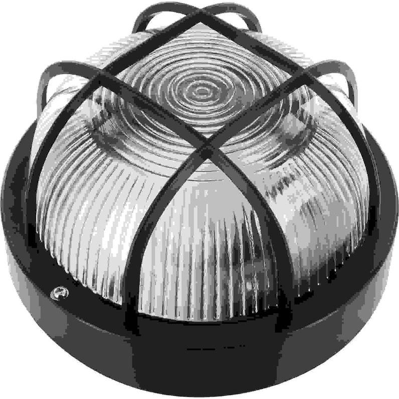 Hublot Extérieur E27 100 W Noir Leroy Merlin