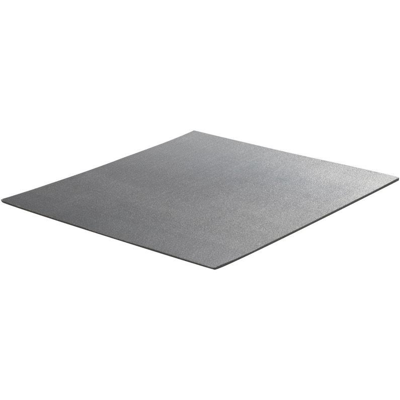 Bas De Porte Adhésif Plasto L 50 Cm Aluminium