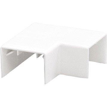 Lot de 4 angles plats blanc pour moulure, H. 4 x P.1.1 cm