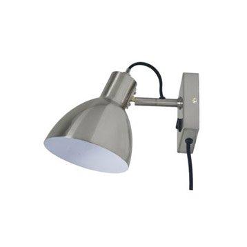 Applique design e27 Huvud métal Satin nickel, 1 INSPIRE