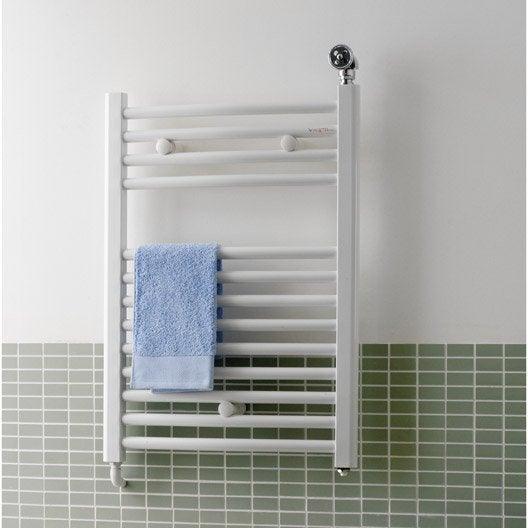 s che serviettes eau chaude acier deltacalor recto c blanc 747 w leroy merlin. Black Bedroom Furniture Sets. Home Design Ideas