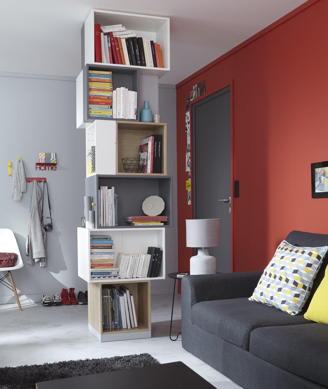 une colonne de rangement pour les livres leroy merlin. Black Bedroom Furniture Sets. Home Design Ideas