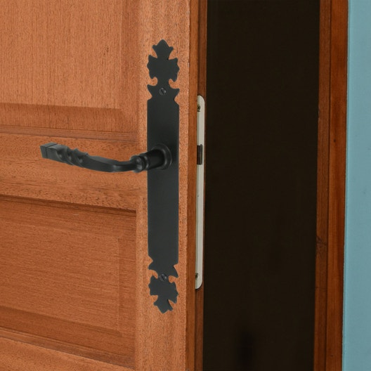 2 poign es de porte bourgogne sans trou fer 195 mm leroy merlin. Black Bedroom Furniture Sets. Home Design Ideas