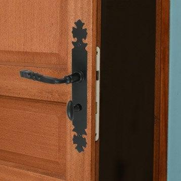 2 poignées de porte Bourgogne condamnation/décondamnation, fer, 195 mm