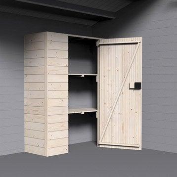 Armoire en bois, l.142.5 x H.166 x P.50 cm