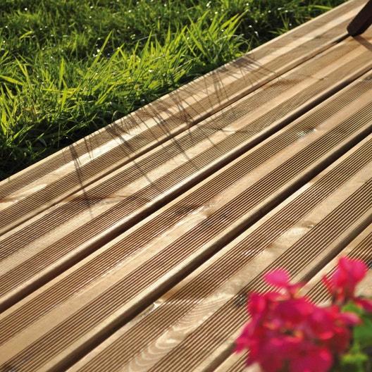 Planche Bois Pin Classe 4 Bronze L 390 X L 14 5 Cm X Ep 2 7 Mm