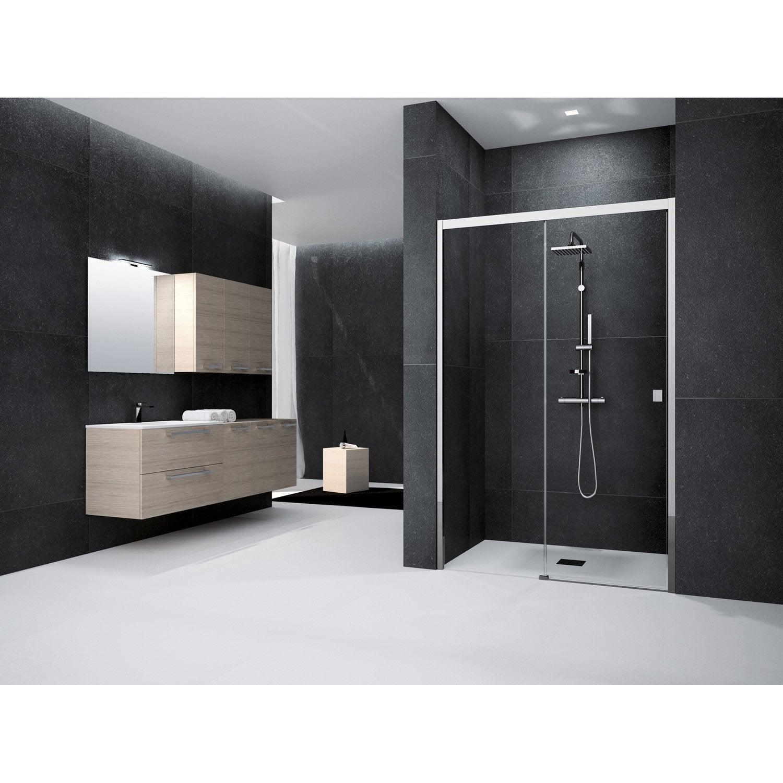 porte de douche coulissante 135 cm transparent neo leroy merlin. Black Bedroom Furniture Sets. Home Design Ideas