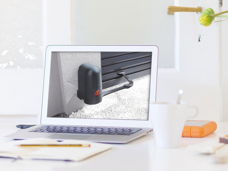 motorisation portail et volet interphone et sonnette. Black Bedroom Furniture Sets. Home Design Ideas