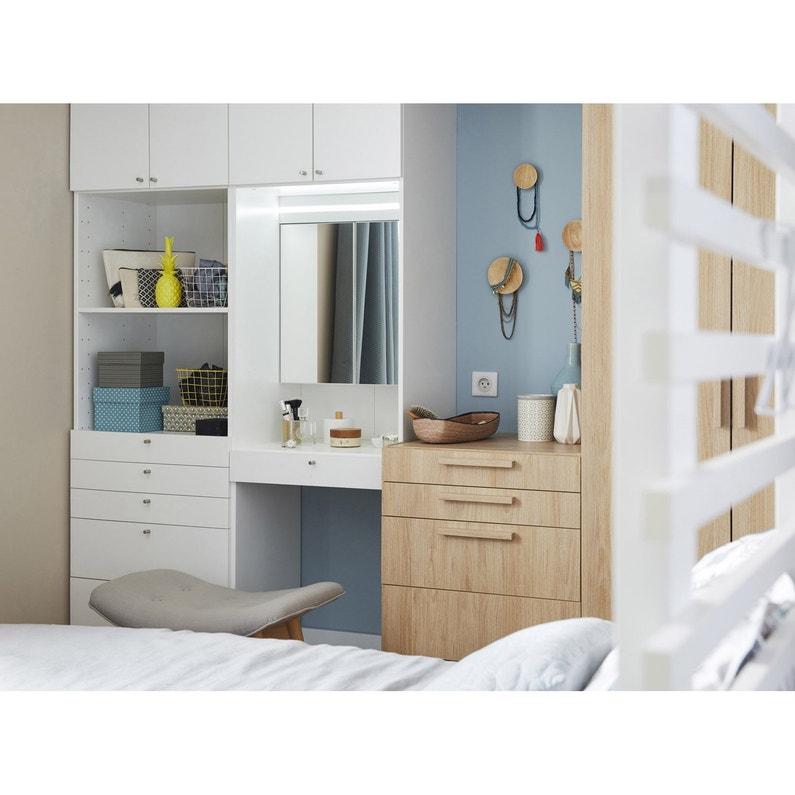 Caisson Spaceo Home Blanc H200 X L60 X P45 Cm