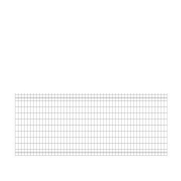 Grillage panneau Soudé Bekafor classic xl vert H.1.03 x L.2.5m, maille 100x50mm