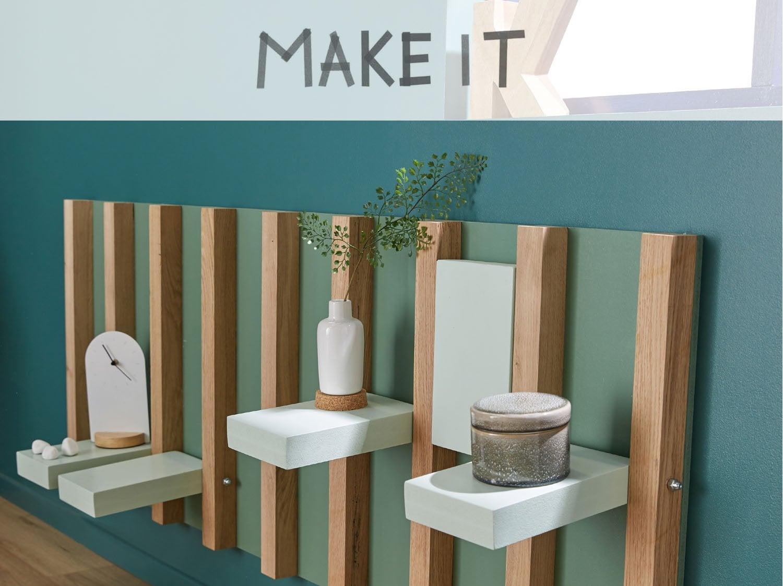 diy fabriquer un panneau d 39 tag res pliables. Black Bedroom Furniture Sets. Home Design Ideas