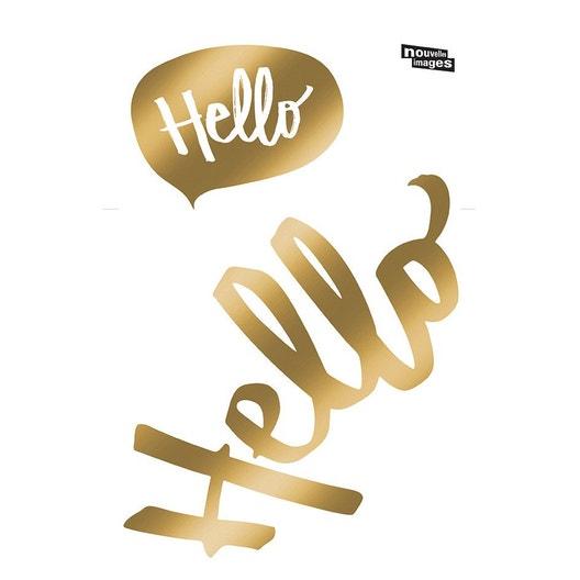 Sticker Hello 24 cm x 36 cm | Leroy Merlin