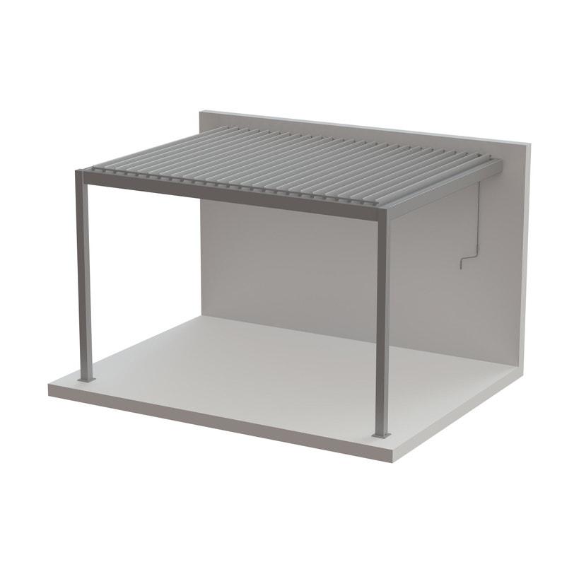 pergola adoss e cadix aluminium gris anthracite 12 m leroy merlin. Black Bedroom Furniture Sets. Home Design Ideas