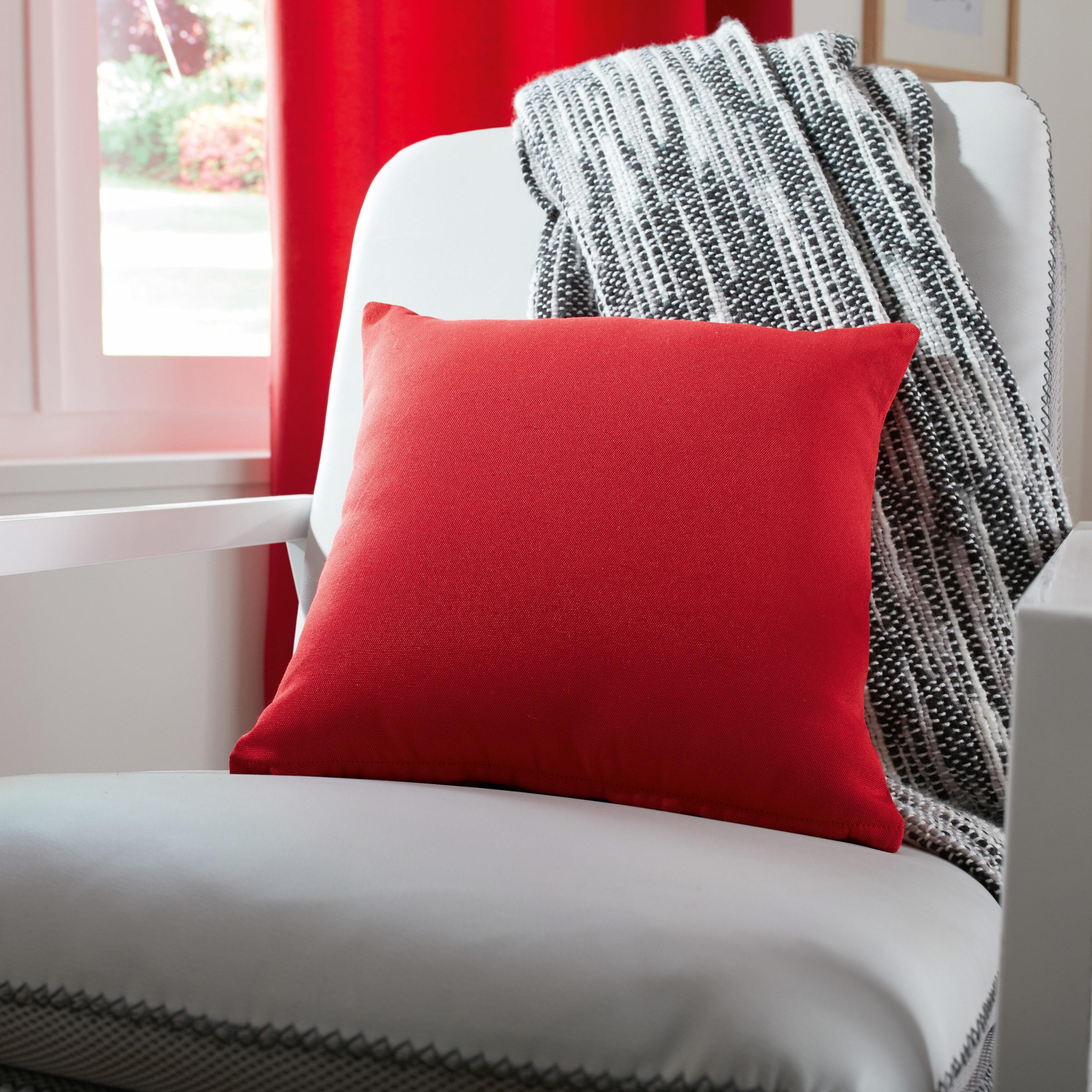 Coussin Elema INSPIRE, rouge-rouge n°3 l.35 x H.35 cm