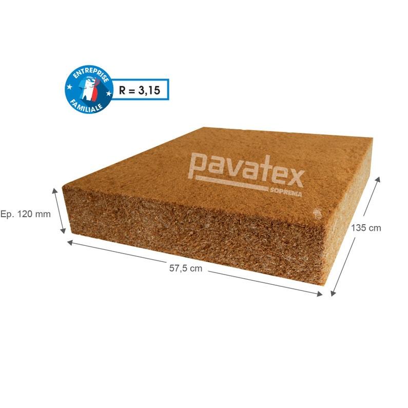 4 Panneaux Fibre De Bois Pavatex L0575 X L122 M X Ep120 Mm