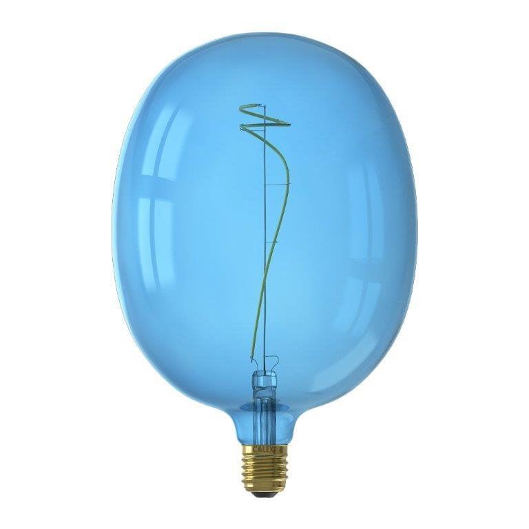 Ampoule led bleu Globe 180 mm E27 80 Lm = 40 W bleu, CALEX