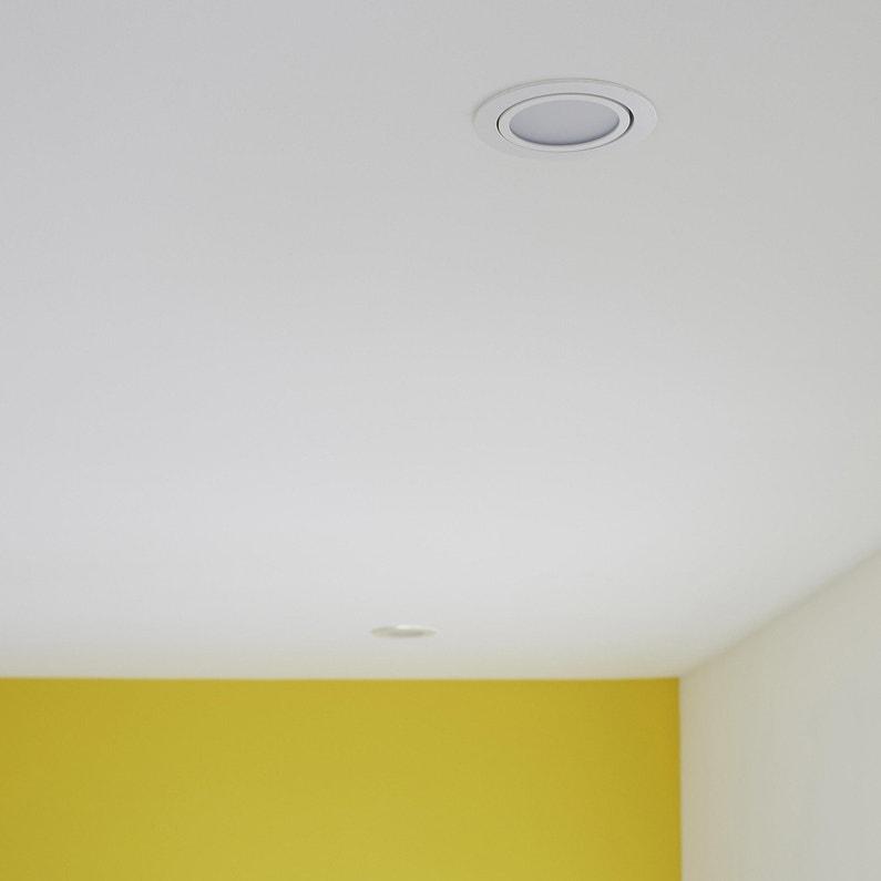 Kit 1 spot à encastrer salle de bains orientable INSPIRE LED intégrée blanc