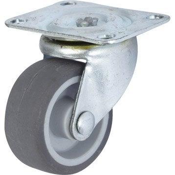 Roulette pivotante à platine, Diam.42 mm