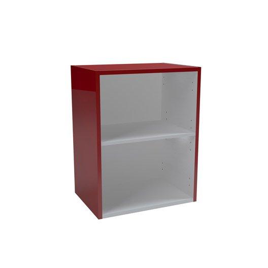 meuble bas x x cm rouge remix leroy merlin. Black Bedroom Furniture Sets. Home Design Ideas