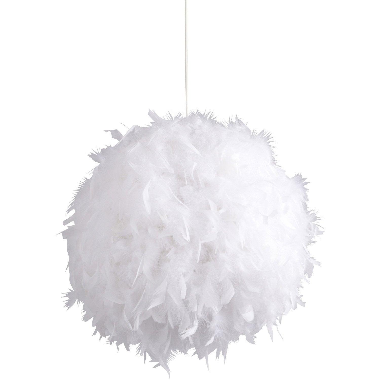 Boule De Plume A Suspendre suspension, e14 romantique charme mini-kokot plumes blanc 1 x 11 w corep