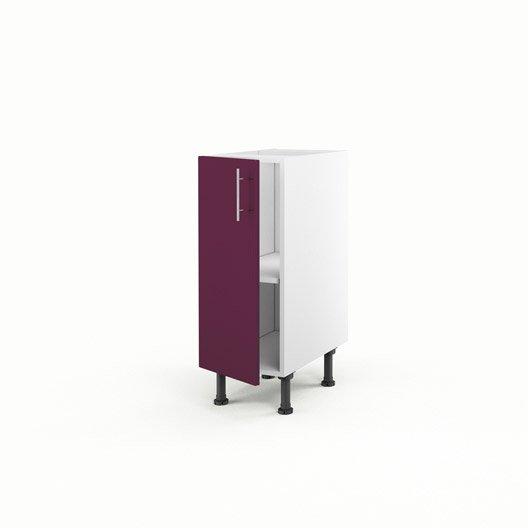 Meuble de cuisine bas violet 1 porte rio x x p for Meuble bas 30 cm cuisine