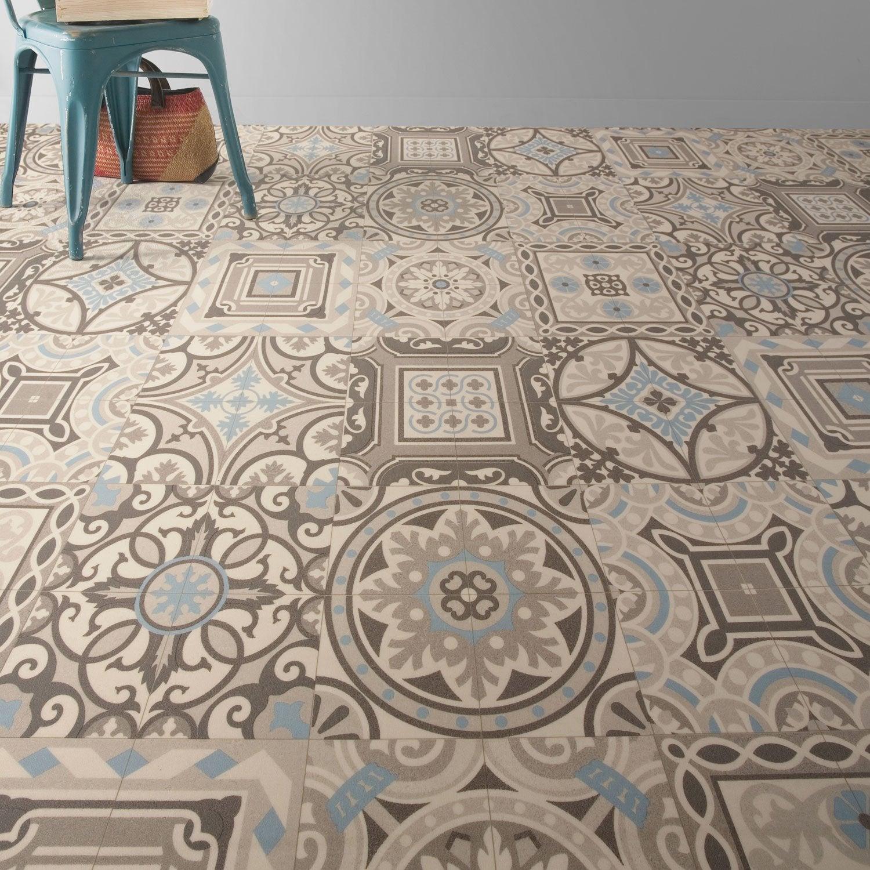Sol Vinyle Chambre Enfant en ce qui concerne sol pvc shalimar blue, artens textile l.4 m | leroy merlin
