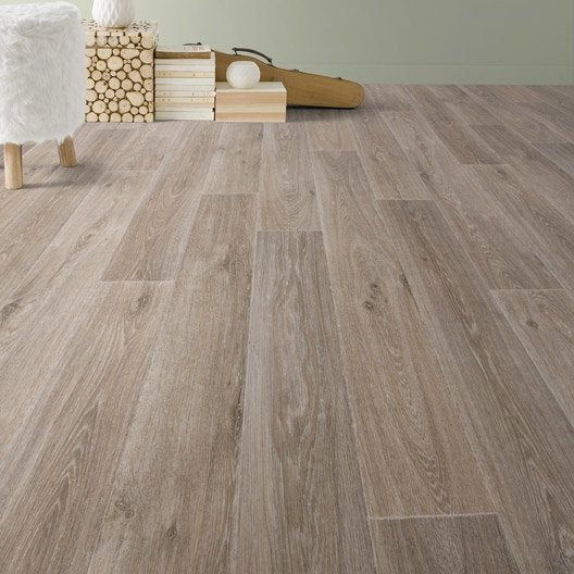 Sol pvc marron noma nature gerflor texline hqr l 4 m for Sol vinyle sans colle