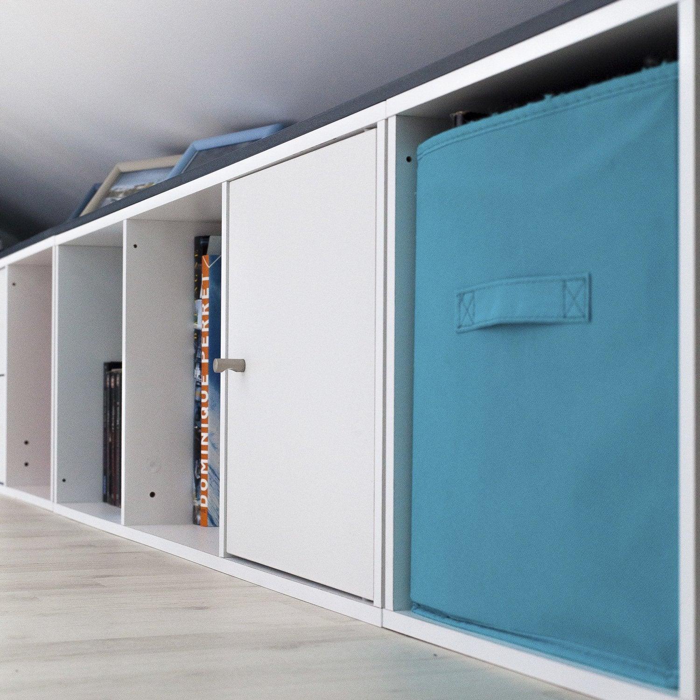 rangements blancs et bleus dans la chambre de st phanie boulogne sur mer leroy merlin. Black Bedroom Furniture Sets. Home Design Ideas