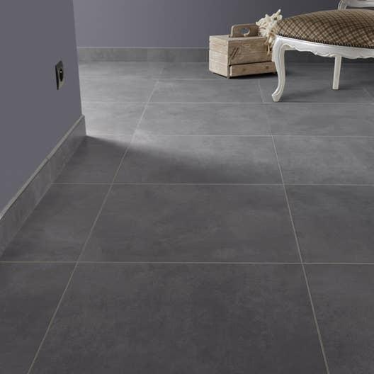 carrelage sol et mur gris smoke effet b ton live x cm leroy merlin. Black Bedroom Furniture Sets. Home Design Ideas