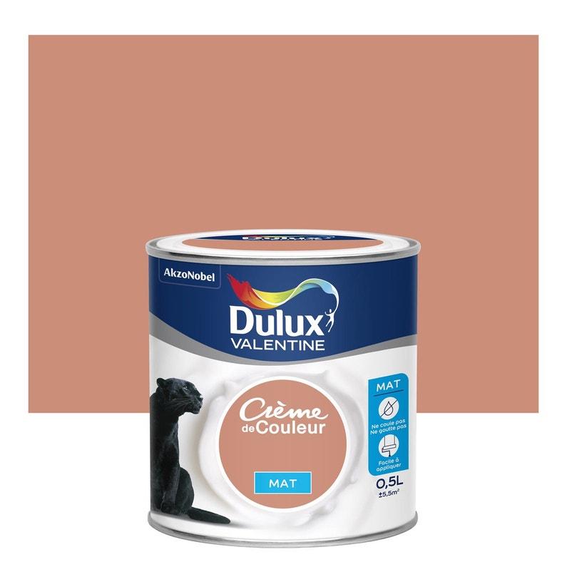 peinture cuivre rose mat dulux valentine cr me de couleur 0 5 l leroy merlin. Black Bedroom Furniture Sets. Home Design Ideas