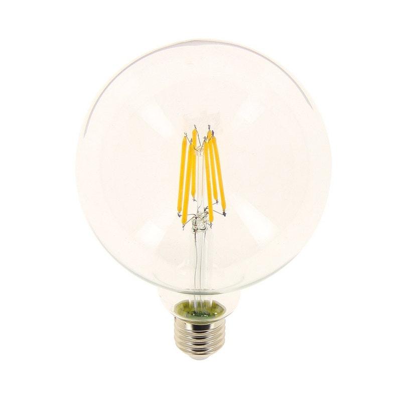 Ampoule Filament Led Globe 125mm E27 10 6w 1521lm équiv 100w 2700k Xanlite