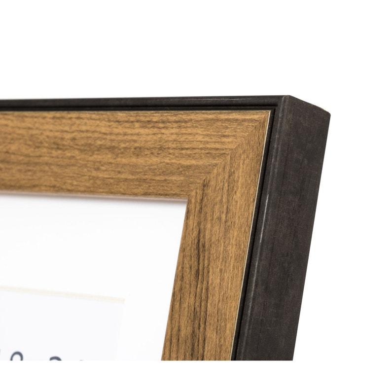 Cadre Newton indus, noyer, 40 x 50 cm